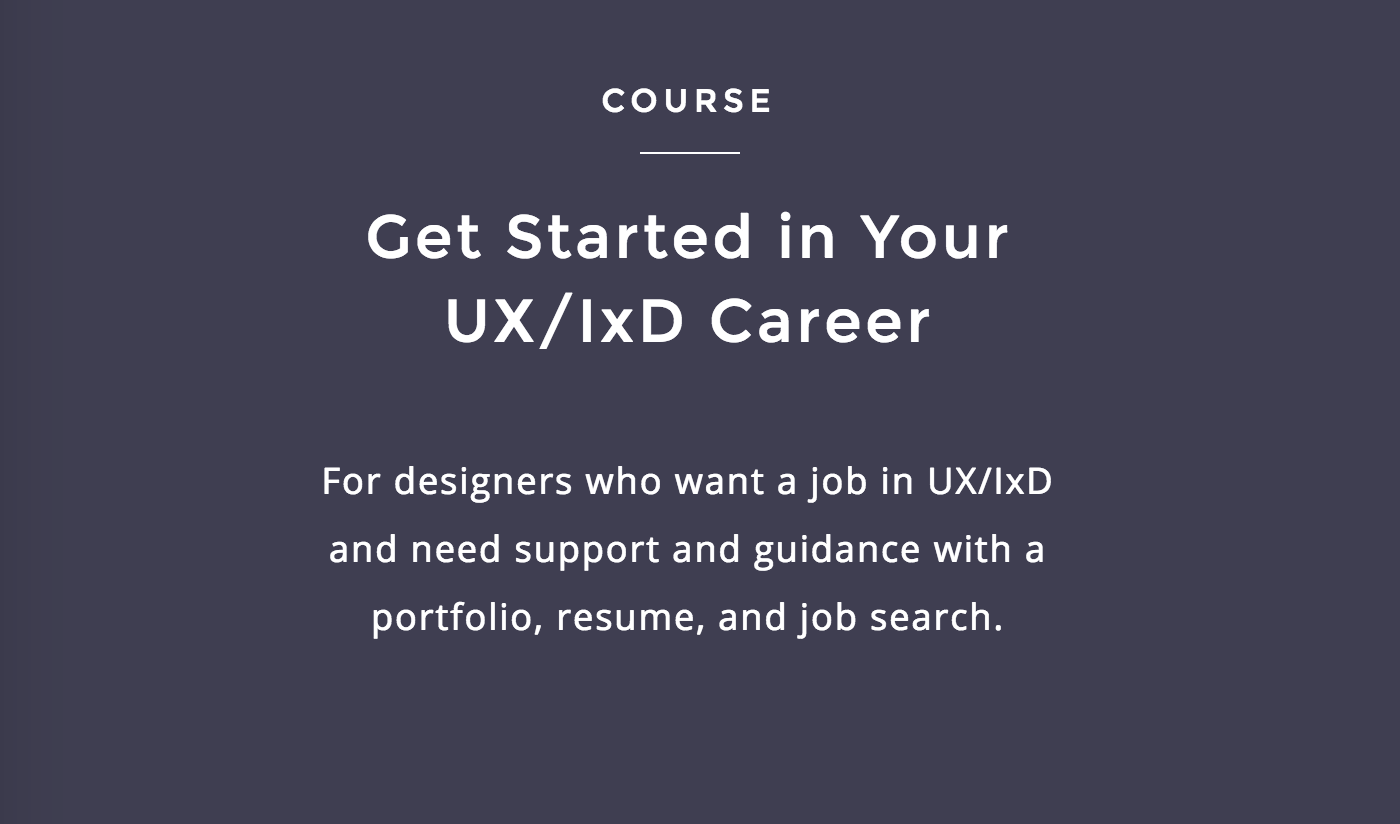 Get Started in Your UX/IxD Career